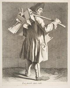 Abbildung eines Rattenfängers 18.Jhr.